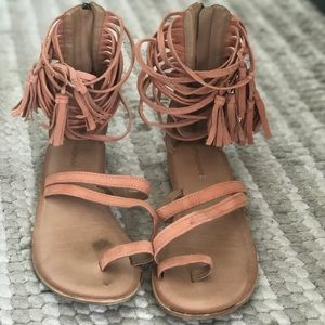 Jefferey Campbell Tassel Sandals Size 9
